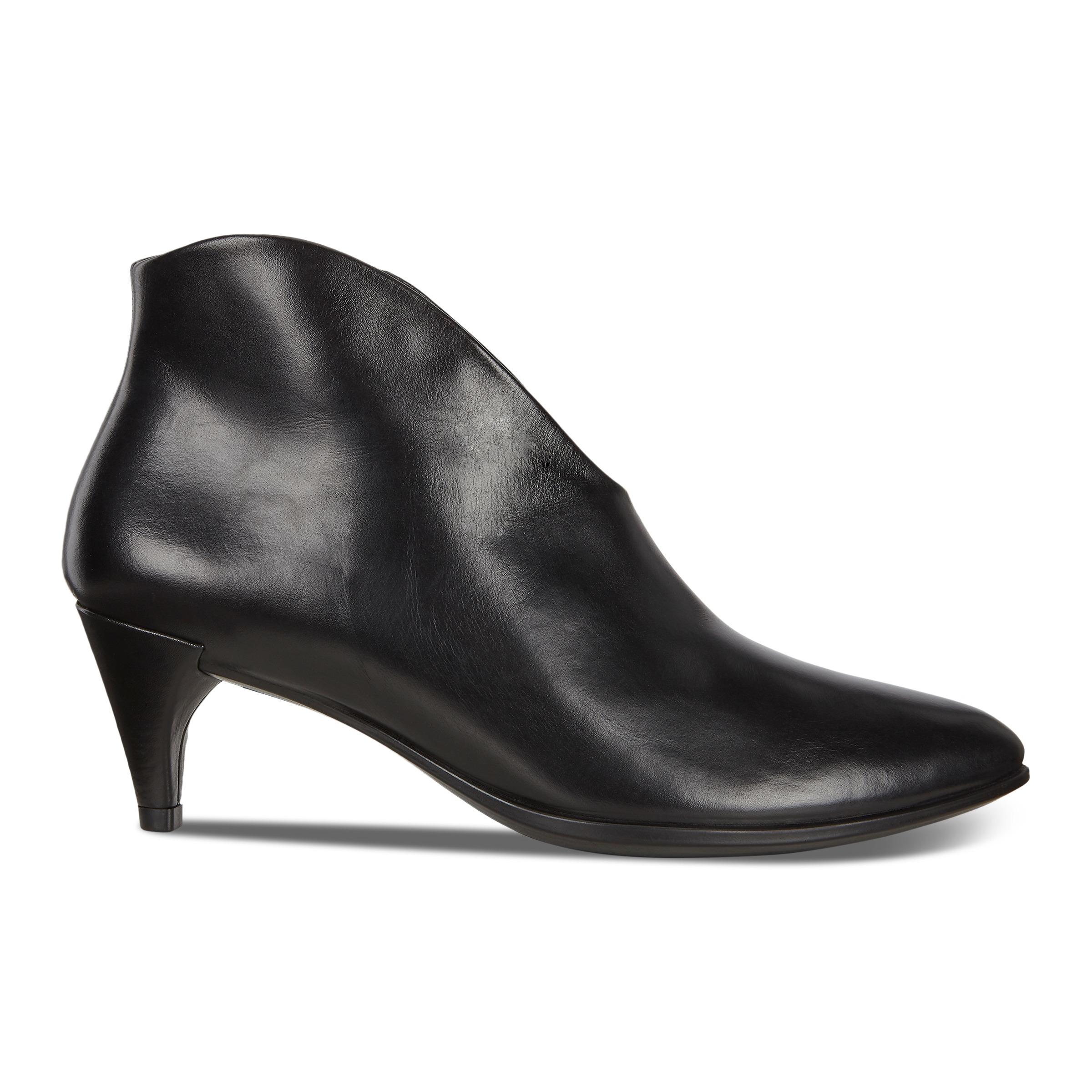 ecco mode sko, Ecco Shape 75 Sleek Kernelæder Sort Støvler