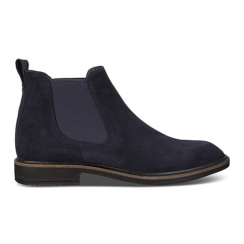 blå chelsea boots