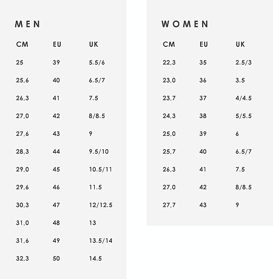 Printable Women's Shoe Size Chart That are Priceless