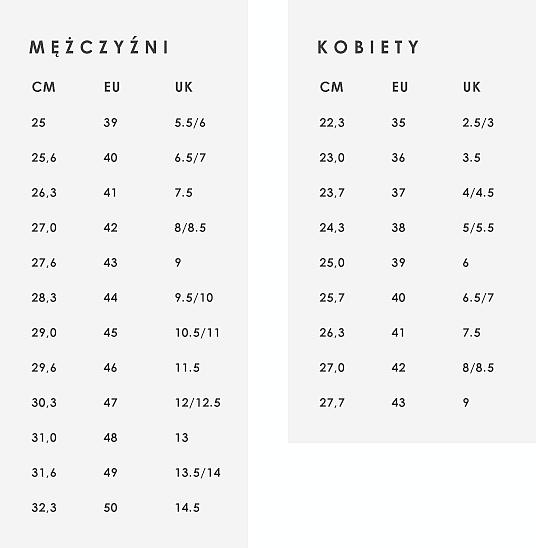 935b696c ECCO Tabela rozmiarów